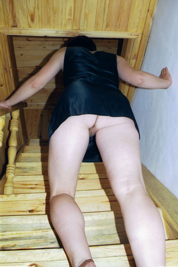 panties stairs upskirt no Public on