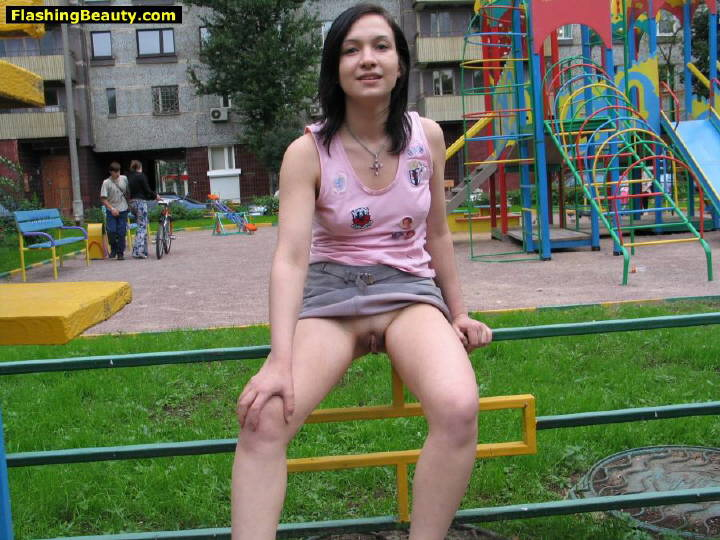 Valuable phrase teens flashing on playground